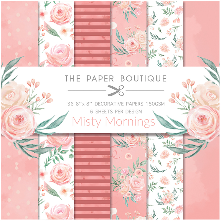 The Paper Boutique Misty Mornings 8″ x 8″ Paper Pad