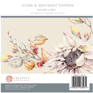 The Paper Boutique Nature's Gift 5″ x 5″ Scene and Sentiment Topper Pad