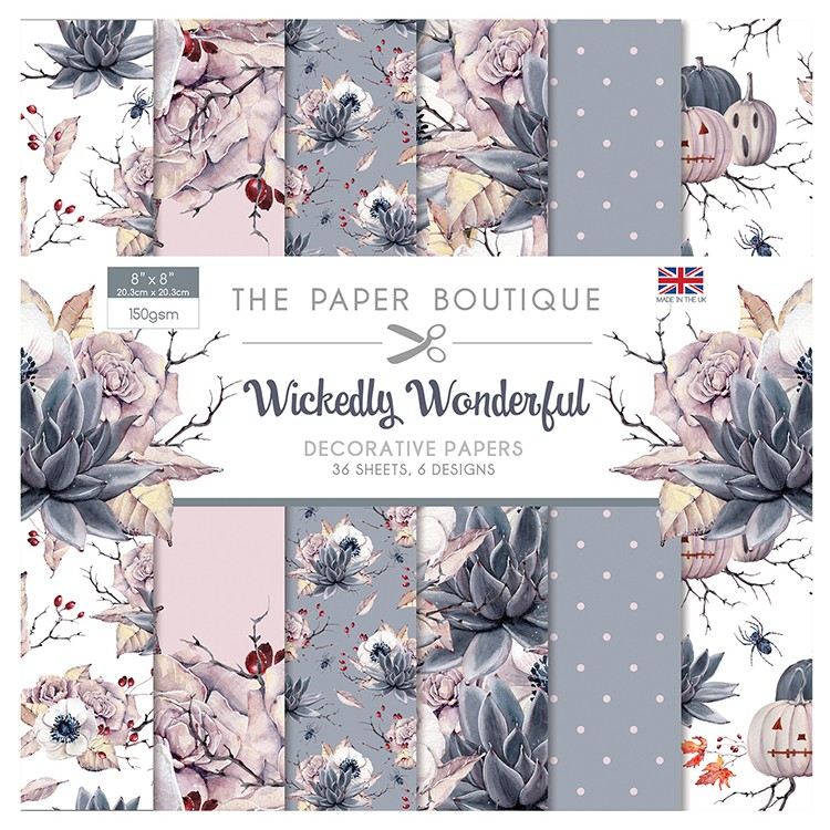 The Paper Boutique Wickedly Wonderful 8″ x 8″ Paper Pad