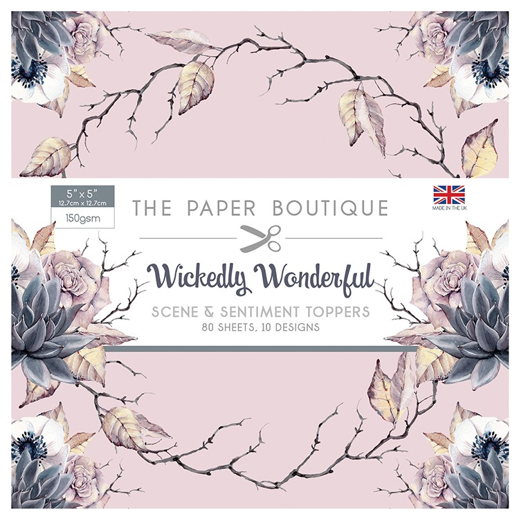 The Paper Boutique Wickedly Wonderful 5″ x 5″ Scene & Sentiment Pad