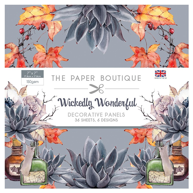 The Paper Boutique Wickedly Wonderful 7″ x 7″ Panel Pad