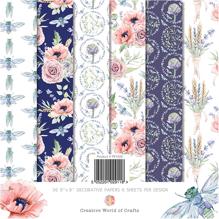The Paper Boutique Summer in Provence Popper Pad 8″ x 8″