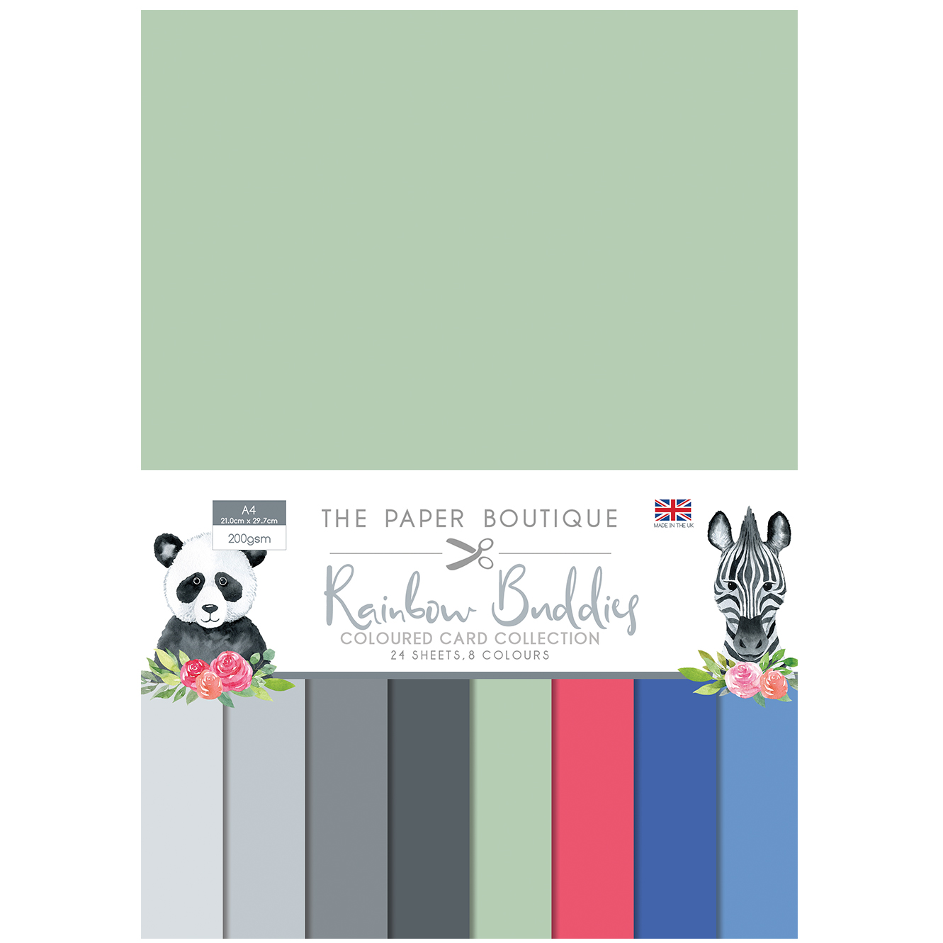 The Paper Boutique Rainbow Buddies Coloured Card Collection