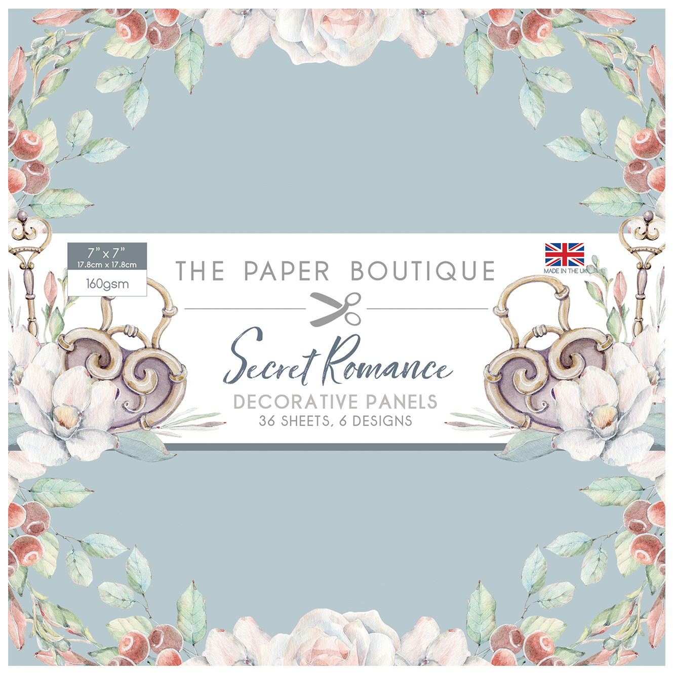 The Paper Boutique Secret Romance 7″ x 7″ Panel Pad