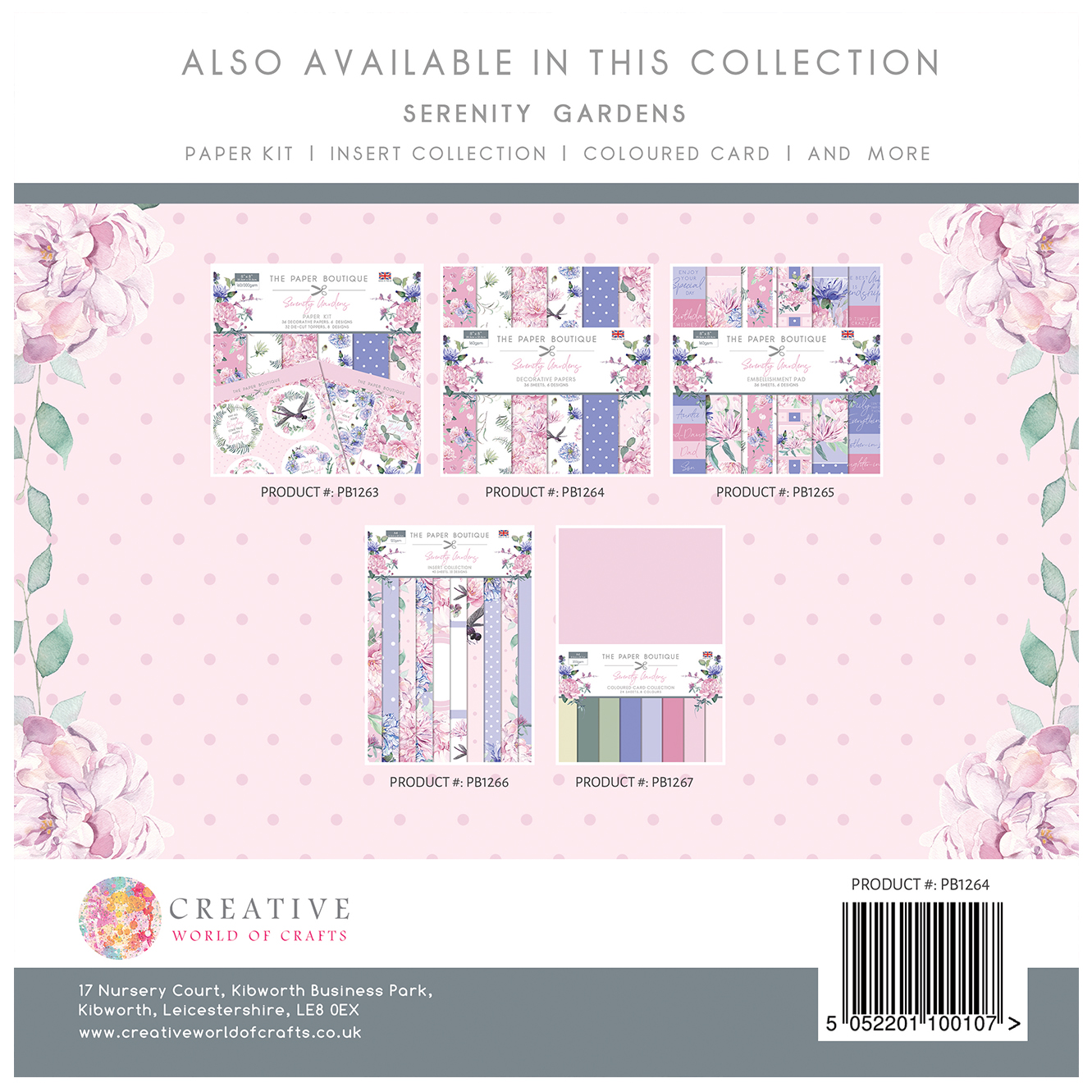 The Paper Boutique Serenity Gardens 8″ x 8″ Paper Pad