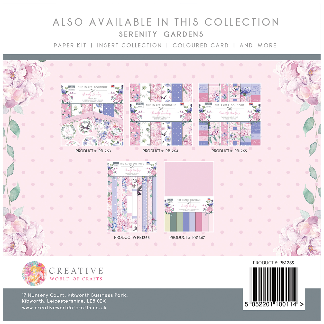 The Paper Boutique Serenity Gardens 8″ x 8″ Embellishment Pad