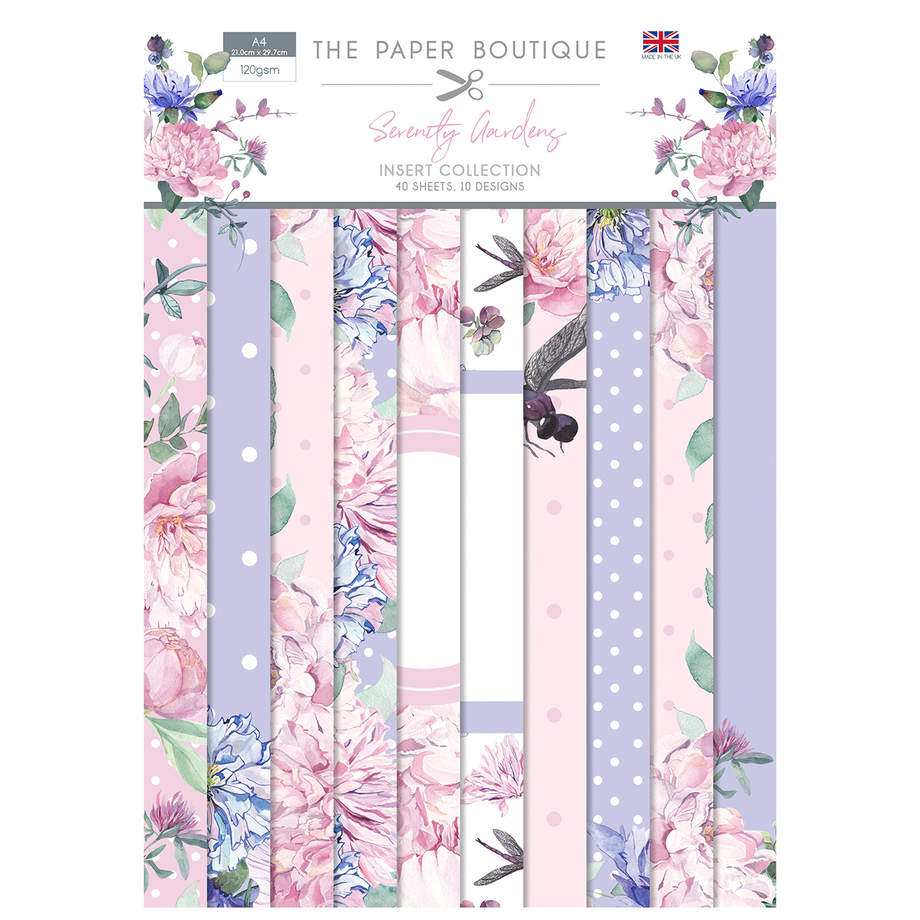 The Paper Boutique Serenity Gardens Insert Collection