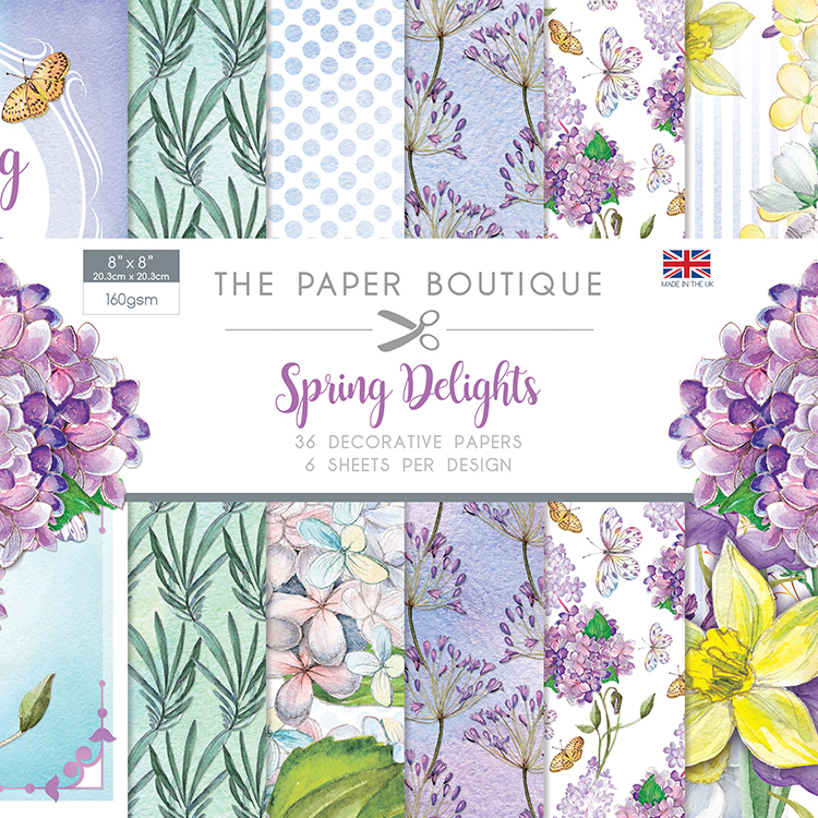 The Paper Boutique Spring Delights 8″ x 8″ Paper Pad