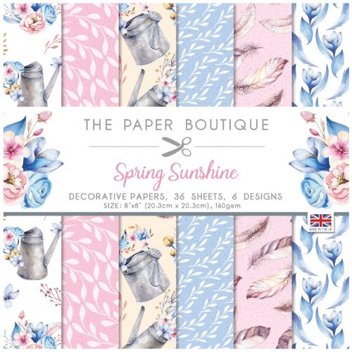 The Paper Boutique Spring Sunshine 8″ x 8″ Paper Pad