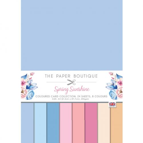 The Paper Boutique Spring Sunshine Coloured Card Collection