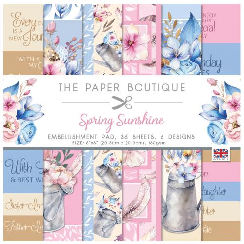 The Paper Boutique Spring Sunshine 8″ x 8″ Embellishment Pad
