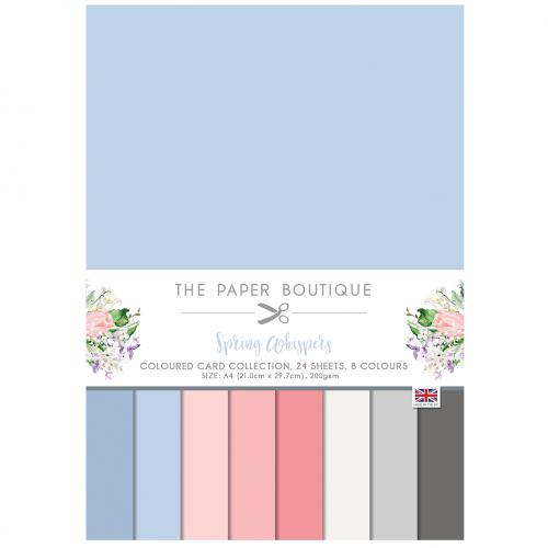 The Paper Boutique Spring Whispers Coloured Card Collection