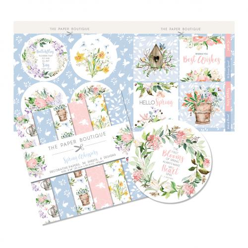 The Paper Boutique Spring Whispers 8″ x 8″ Paper Kit