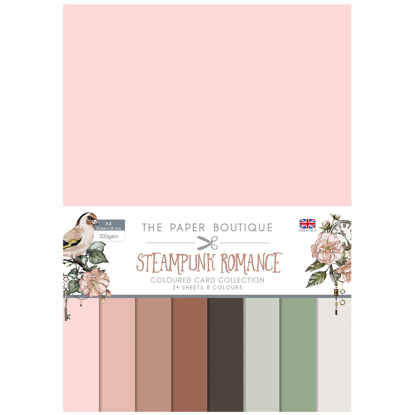 The Paper Boutique Steampunk Romance Coloured Card Collection