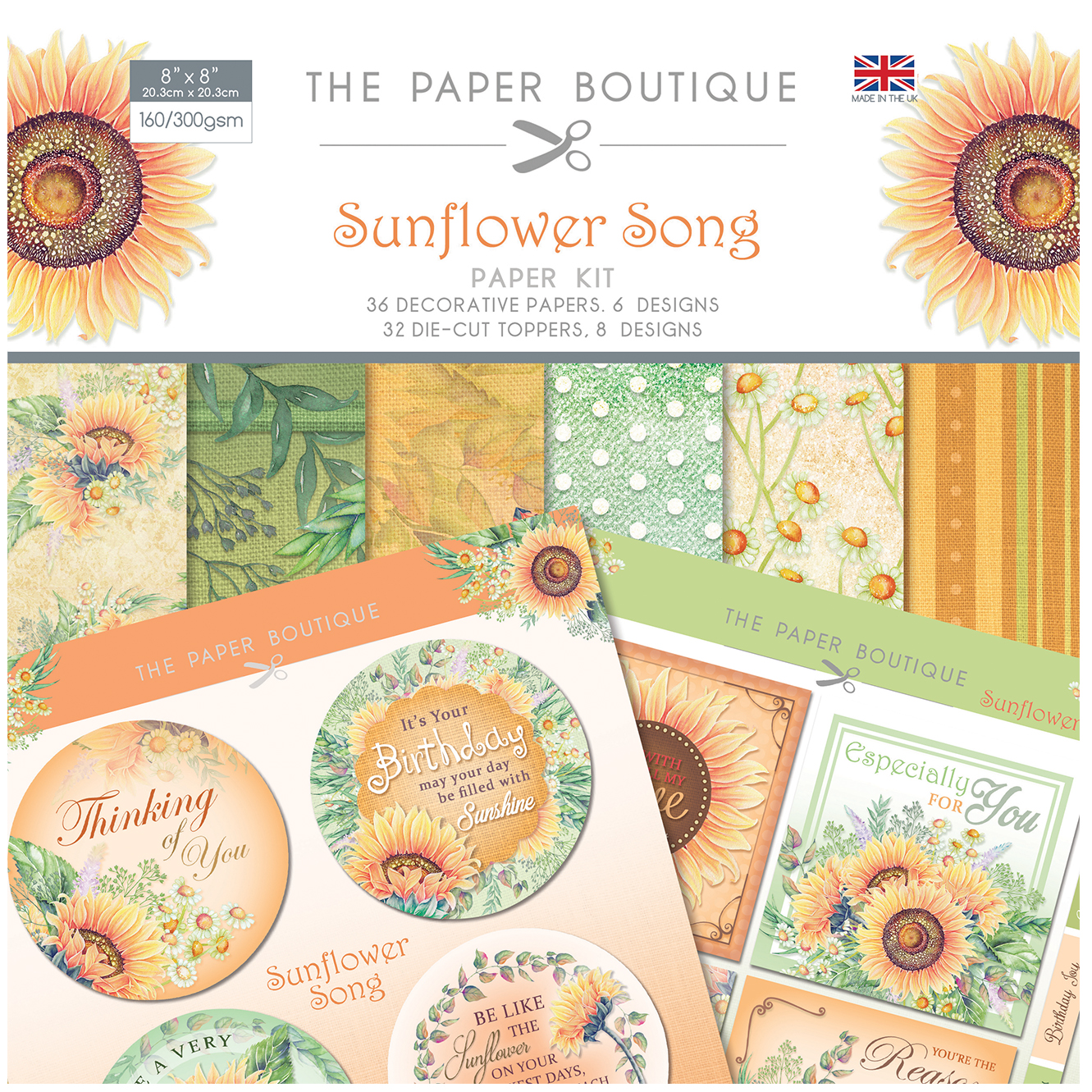 The Paper Boutique Sunflower Song Paper Collection