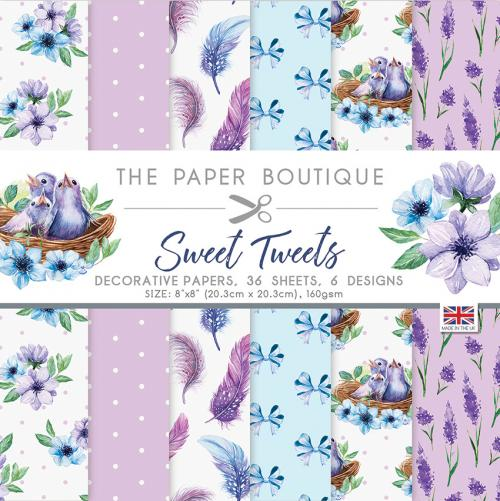 The Paper Boutique Sweet Tweets 8″ x 8″ Paper Pad