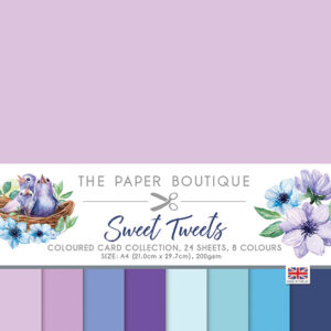 The Paper Boutique Sweet Tweets Coloured Card Collection