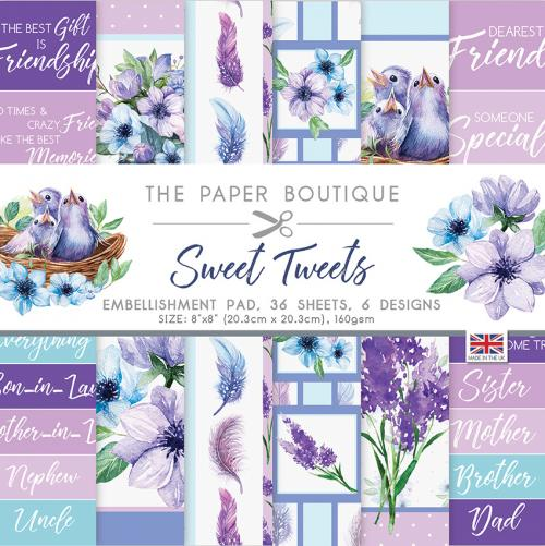 The Paper Boutique Sweet Tweets Embellishment Pad