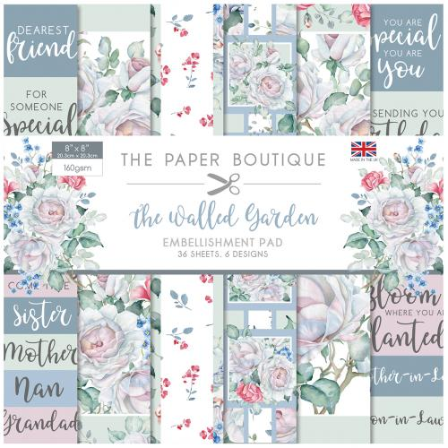 The Paper Boutique The Walled Garden 8″ x 8″ Embellishment Pad