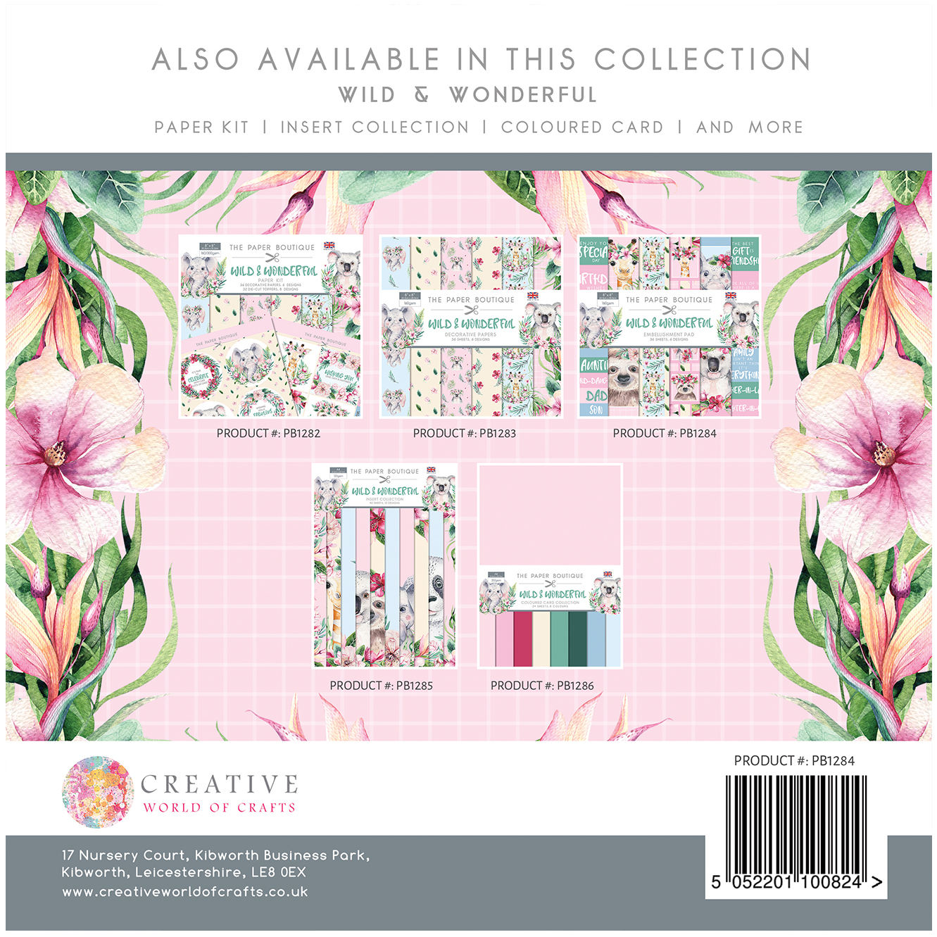 The Paper Boutique Wild & Wonderful 8″ x 8″ Embellishment Pad