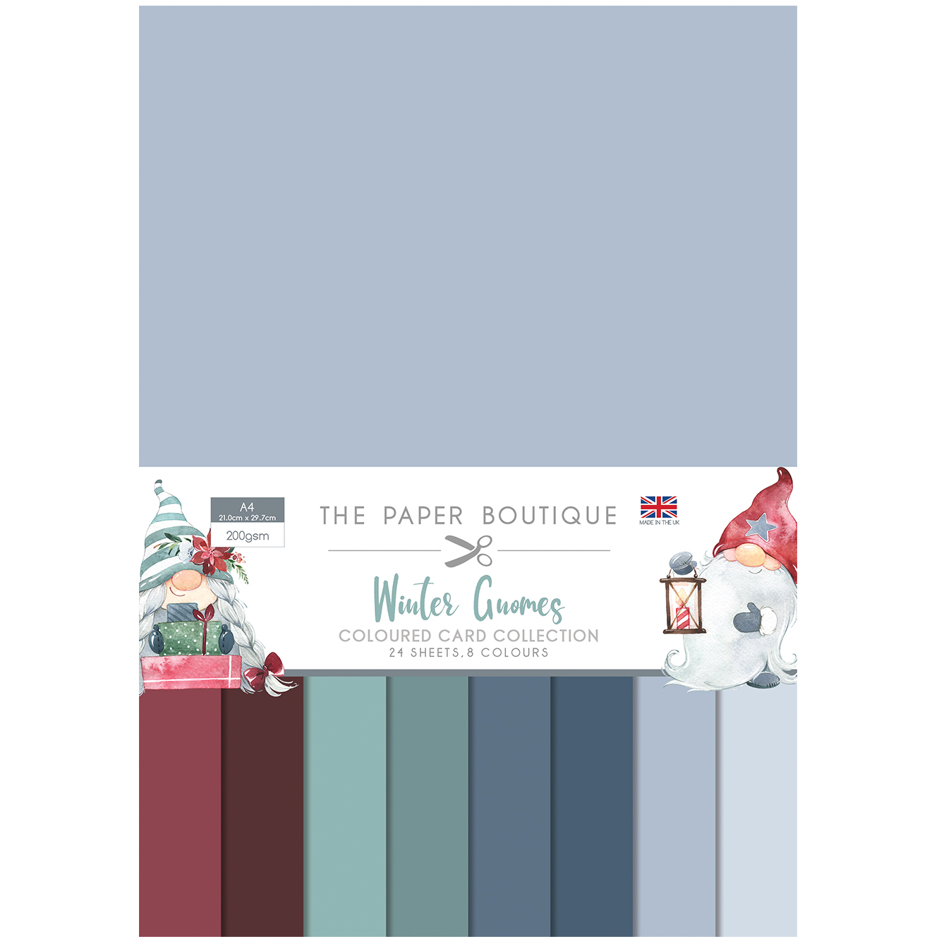 The Paper Boutique Winter Gnomes Coloured Card Collection