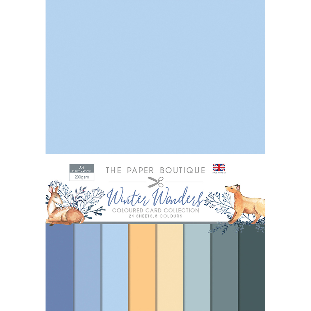 The Paper Boutique Winter Wonders Coloured Card Collection