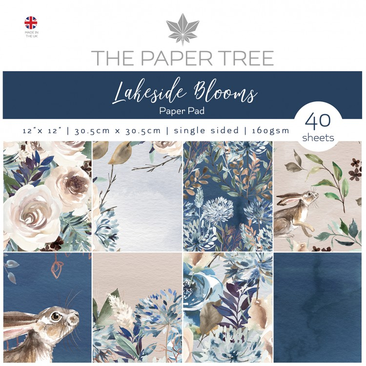 The Paper Tree Lakeside Blooms 12″ x 12″ Paper Pad