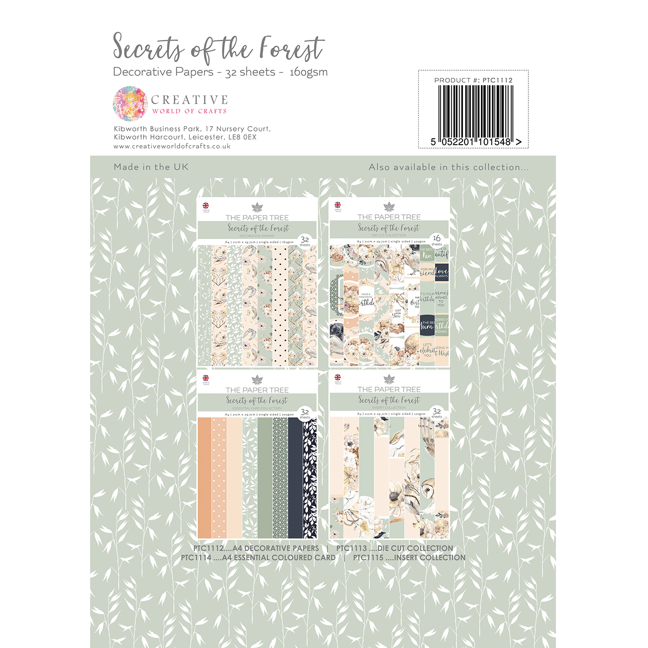 The Paper Tree Secrets of the Forest A4 Decorative Papers