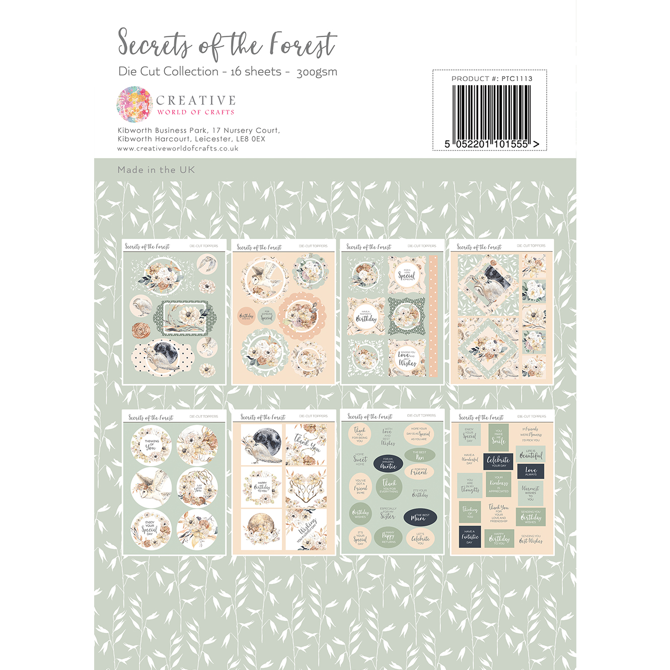 The Paper Tree Secrets of The Forest A4 Die Cut Collection