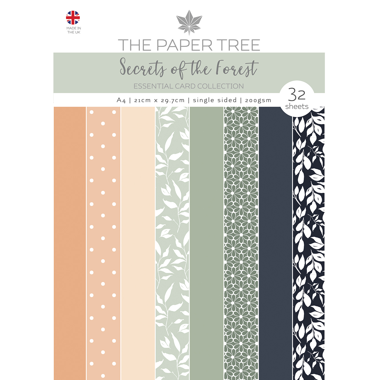 The Paper Tree Secrets of the Forest A4 Essential Coloured Card