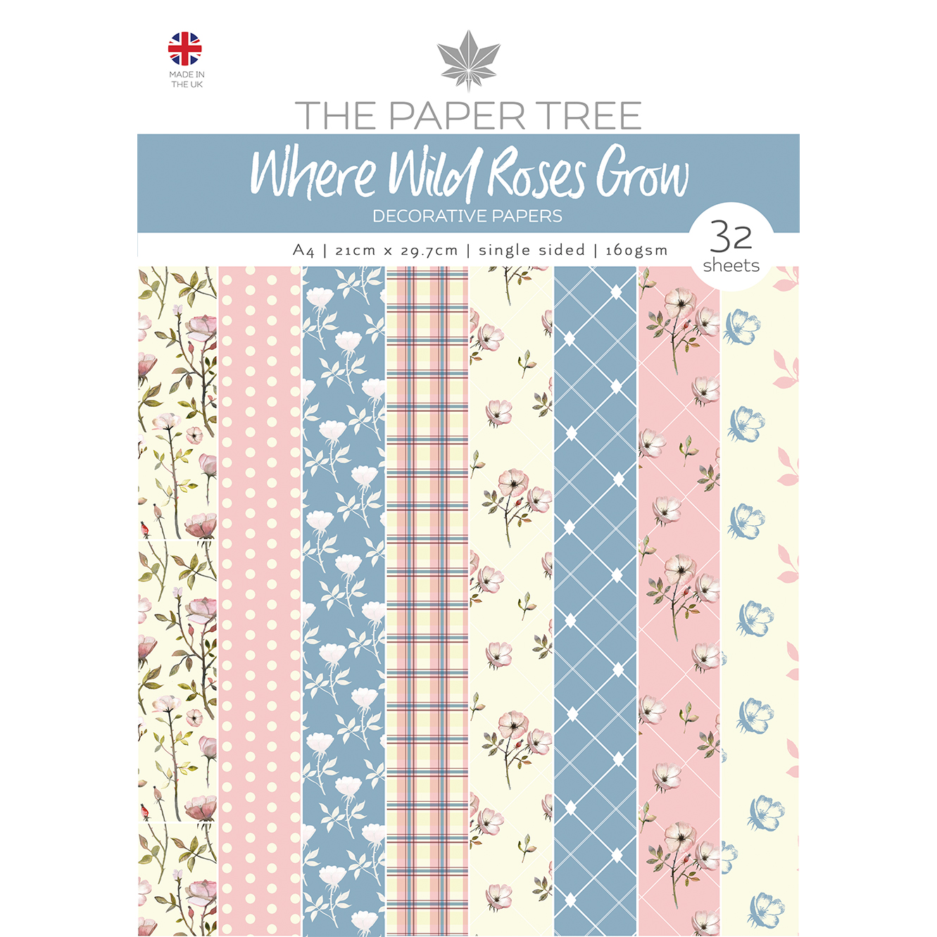 The Paper Tree Where Wild Roses Grow A4 Decorative Papers
