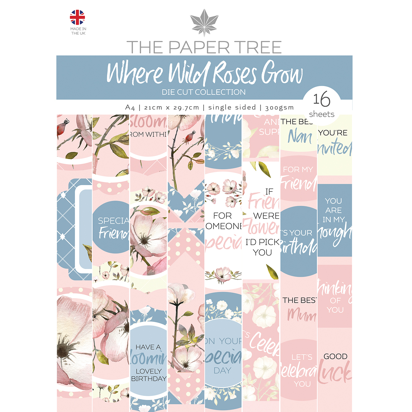 The Paper Tree Where Wild Roses Grow A4 Die Cut Collection