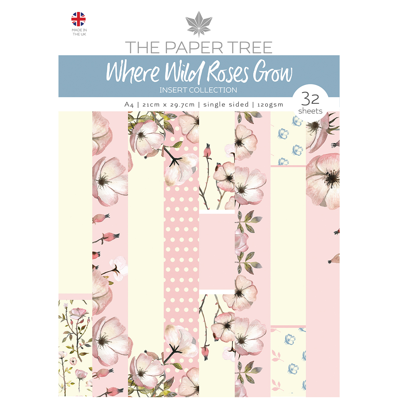 The Paper Tree Where Wild Roses Grow A4 Insert Collection