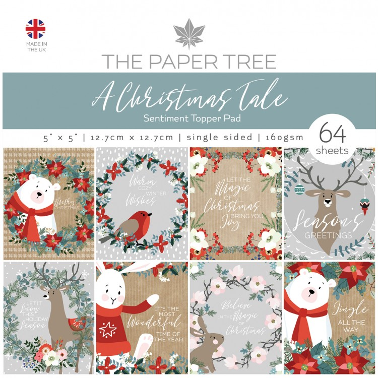 The Paper Tree A Christmas Tale 5″ x 5″ Sentiment Topper Pad