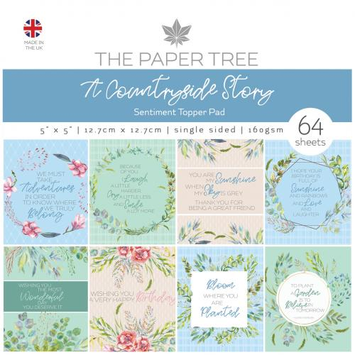 The Paper Tree A Countryside Story 5″ x 5″ Sentiment Pad