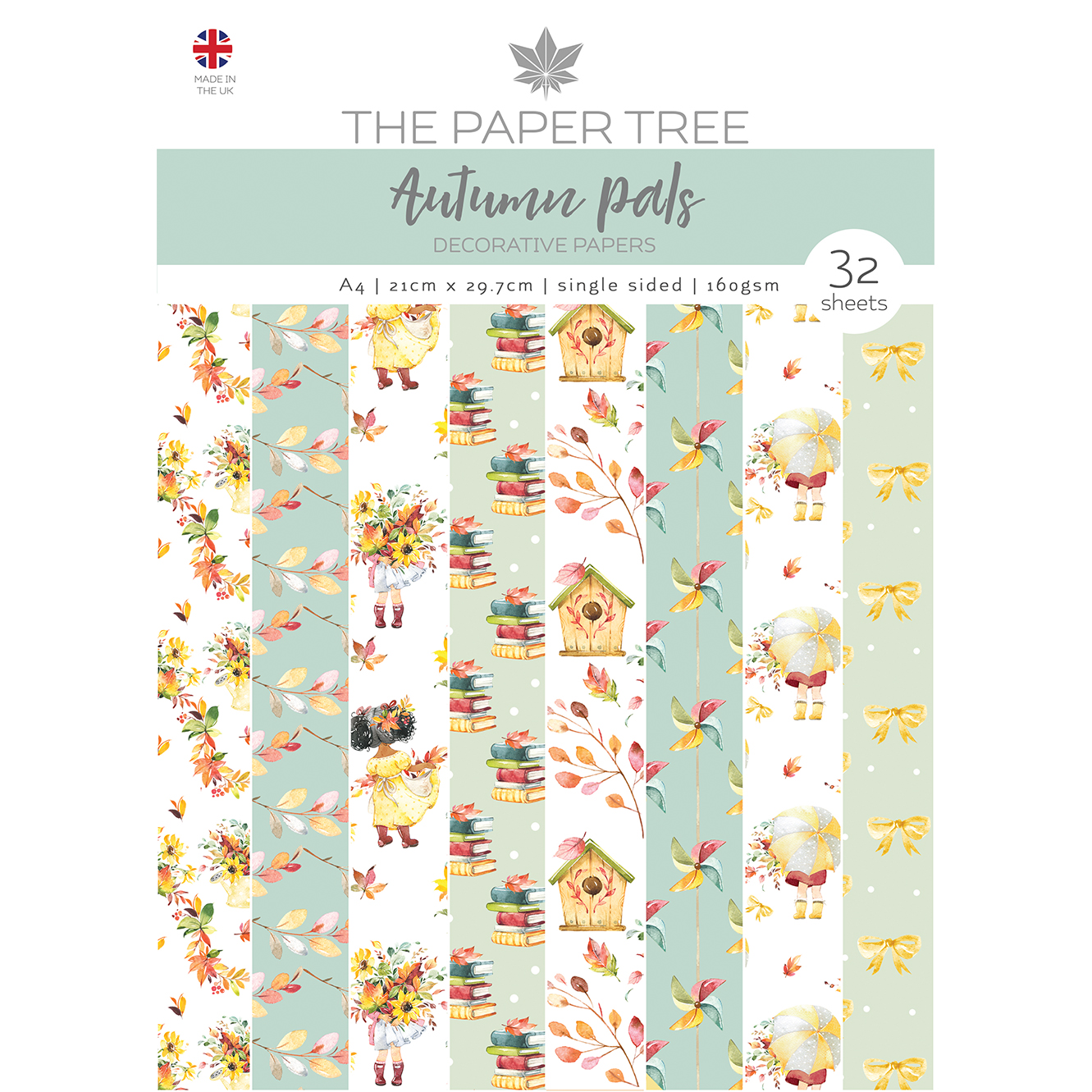 The Paper Tree Autumn Pals A4 Decorative Papers