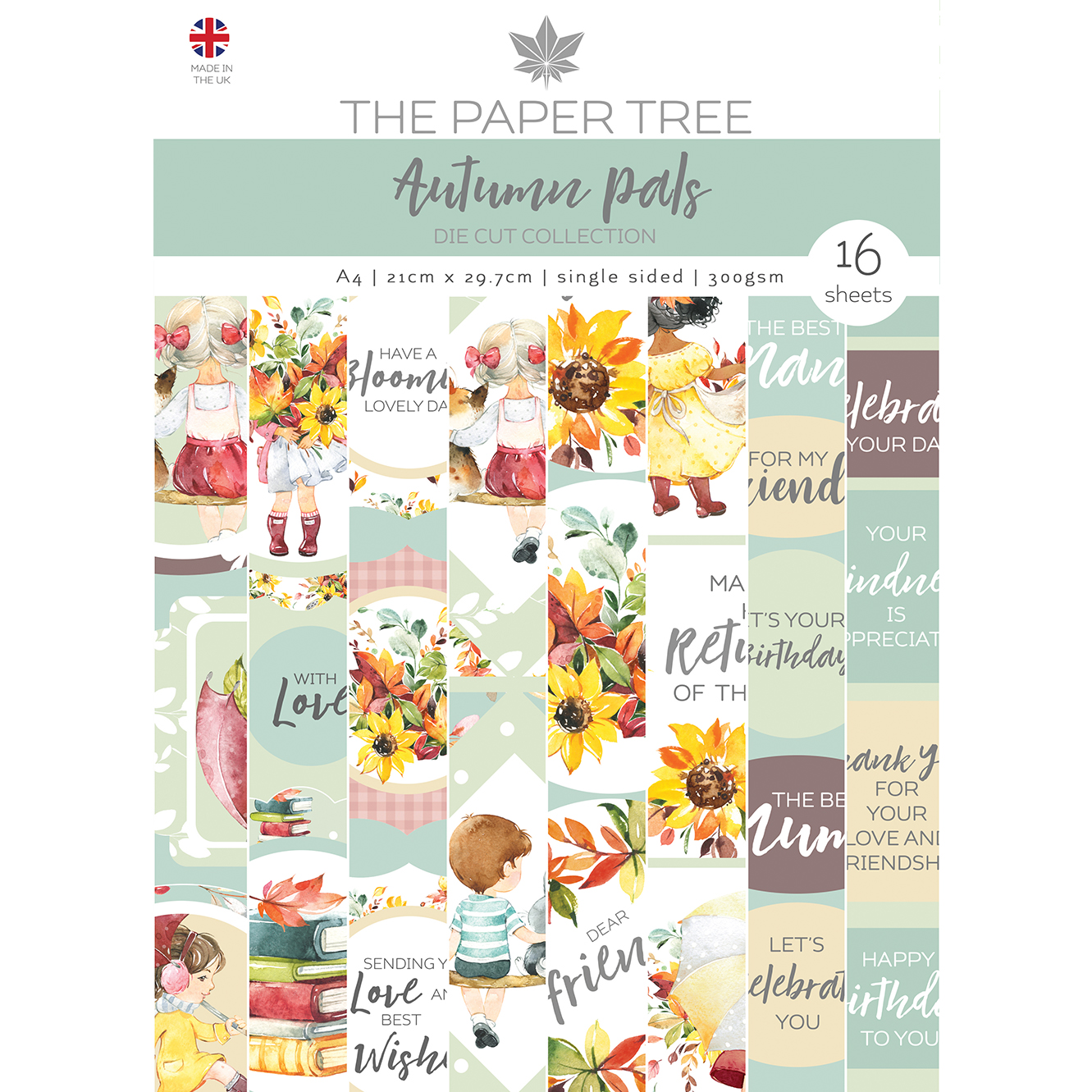 The Paper Tree Autumn Pals A4 Die Cut Collection
