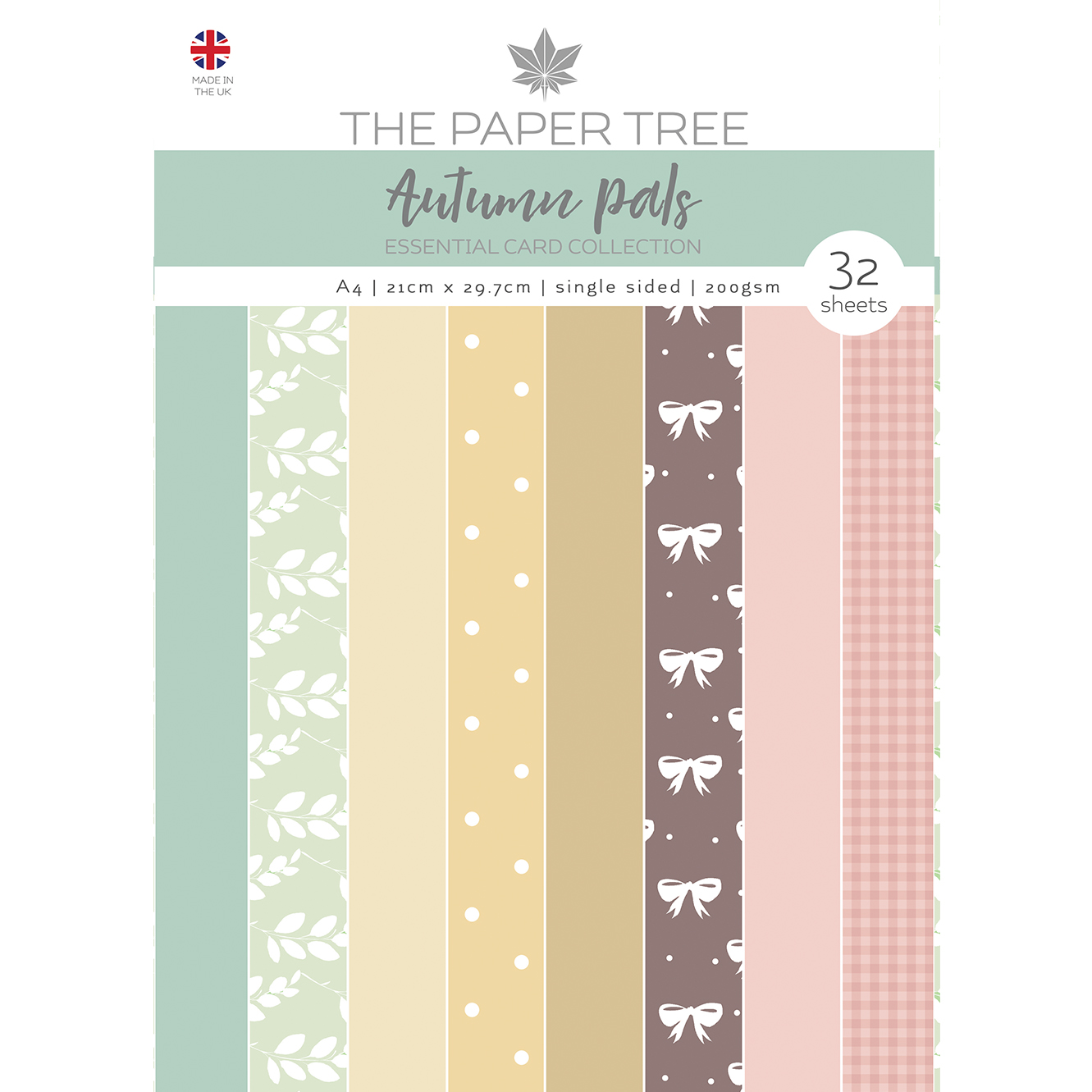 The Paper Tree Autumn Pals A4 Essential Coloured Card