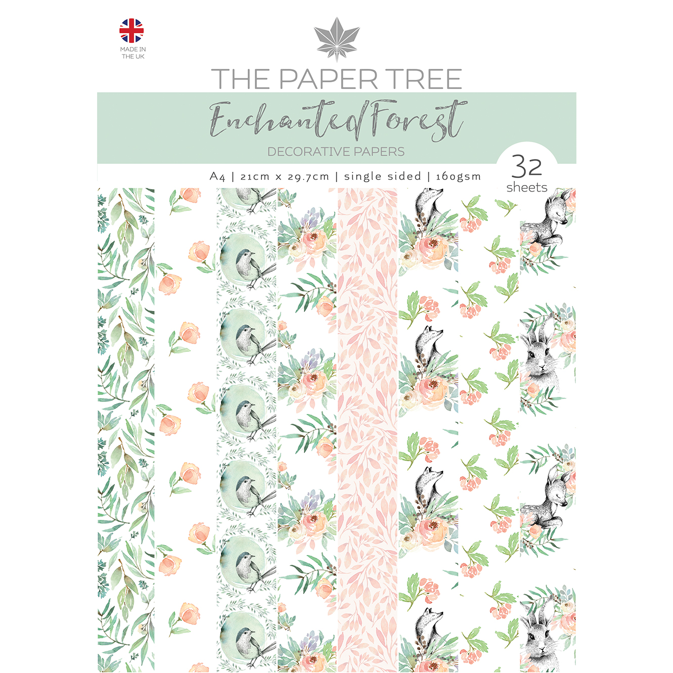 The Paper Tree Enchanted Forest A4 Decorative Papers