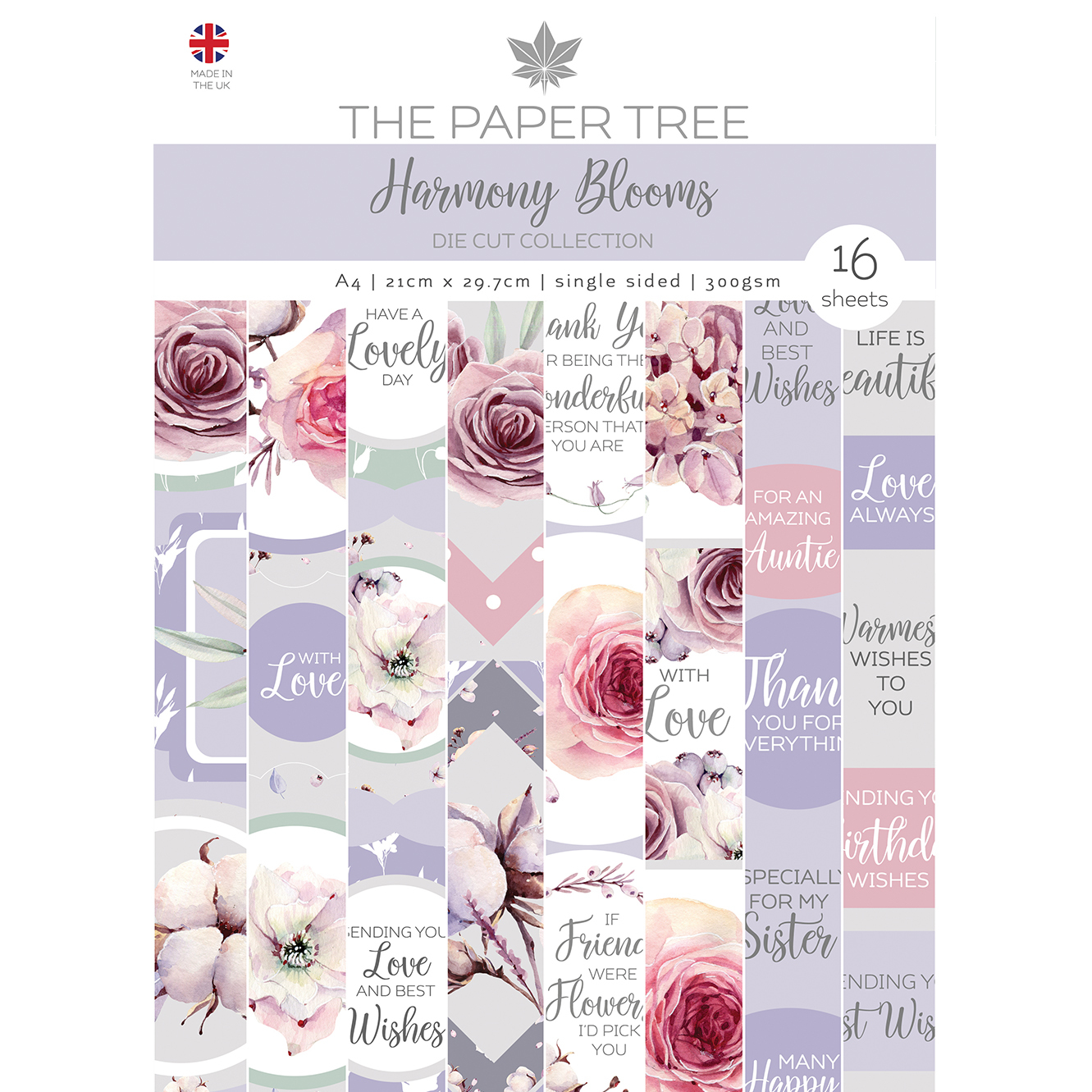 The Paper Tree Harmony Blooms A4 Die Cut Collection