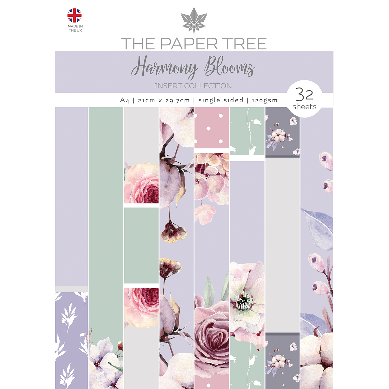 The Paper Tree Harmony Blooms A4 Insert Collection
