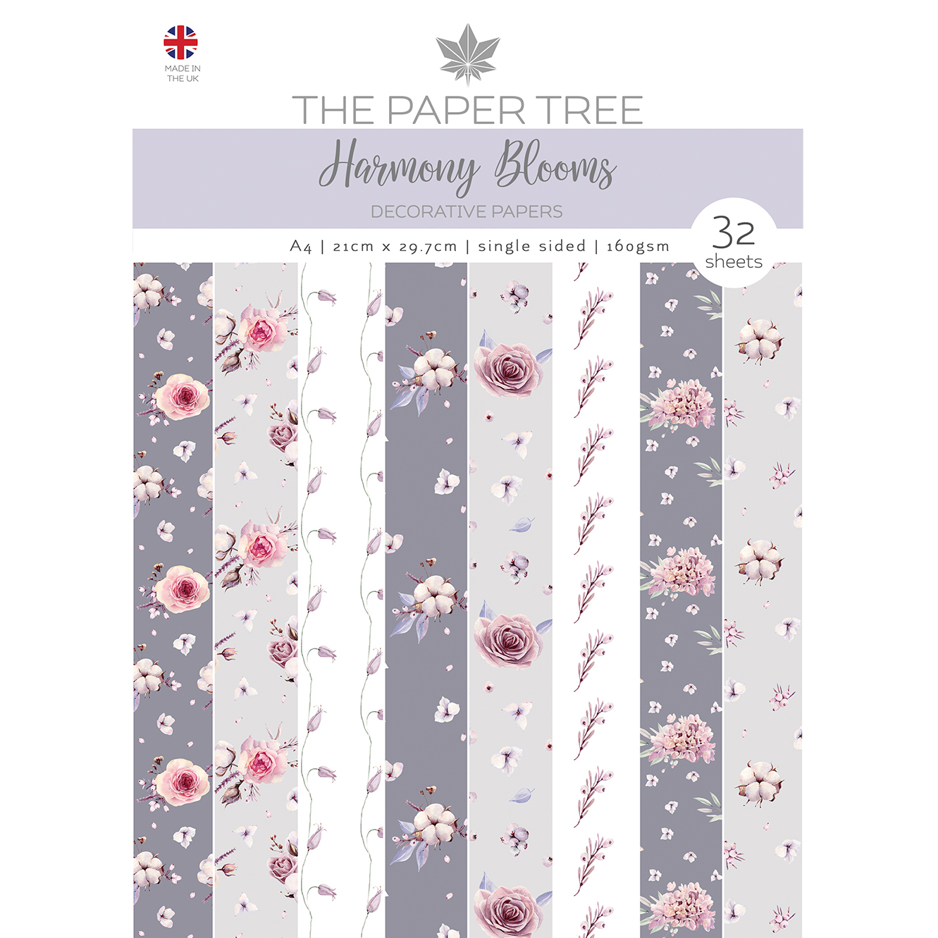 The Paper Tree Harmony Blooms A4 Decorative Papers