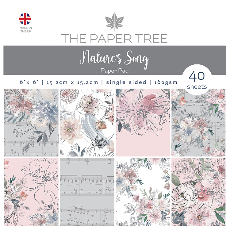 The Paper Tree Nature's Song 6″ x 6″ Paper Pad