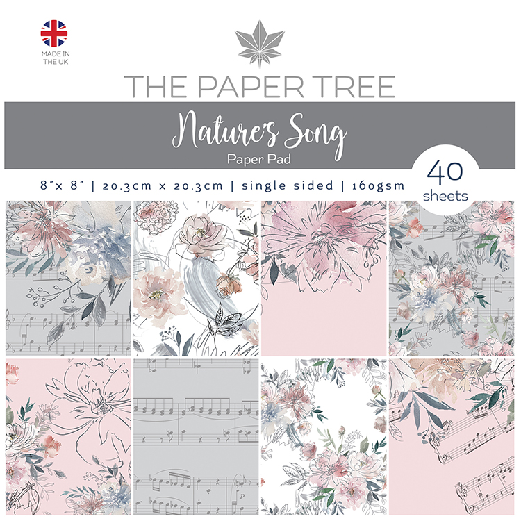 The Paper Tree Nature's Song 8″ x 8″ Paper Pad