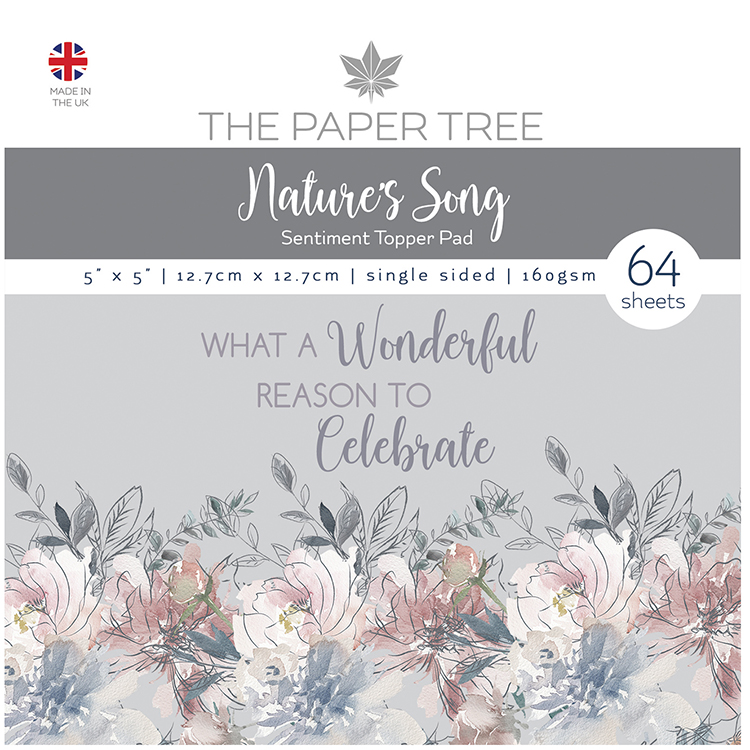 The Paper Tree Nature's Song 5″ x 5″ Sentiment Topper Pad
