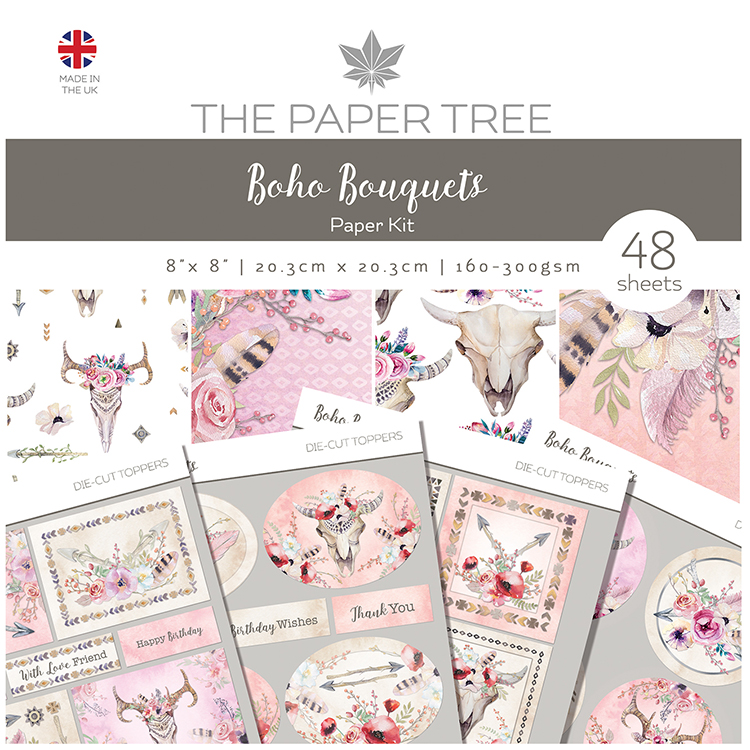 The Paper Tree Boho Bouquets Paper Kit