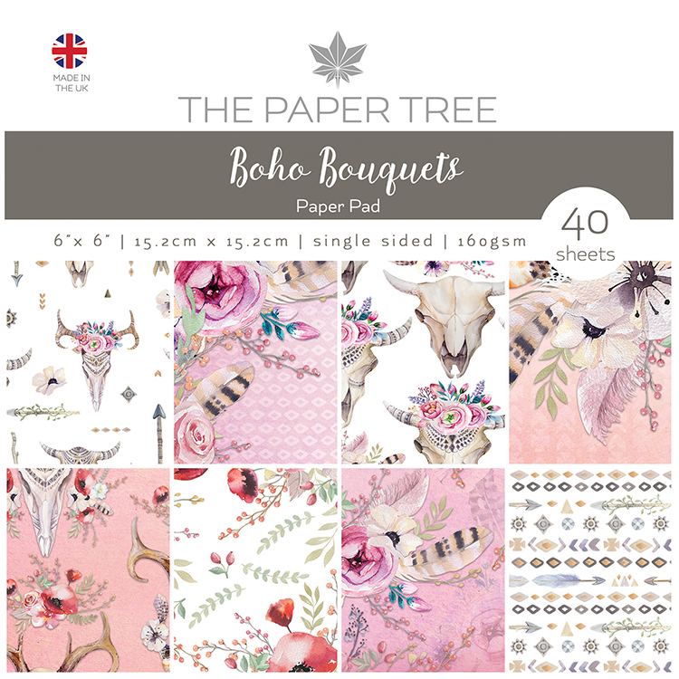 The Paper Tree Boho Bouquets 6″ x 6″ Paper Pad