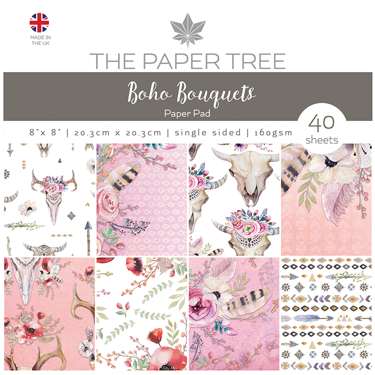 The Paper Tree Boho Bouquets 8″ x 8″ Paper Pad