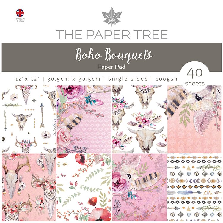 The Paper Tree Boho Bouquets 12″ x 12″ Paper Pad