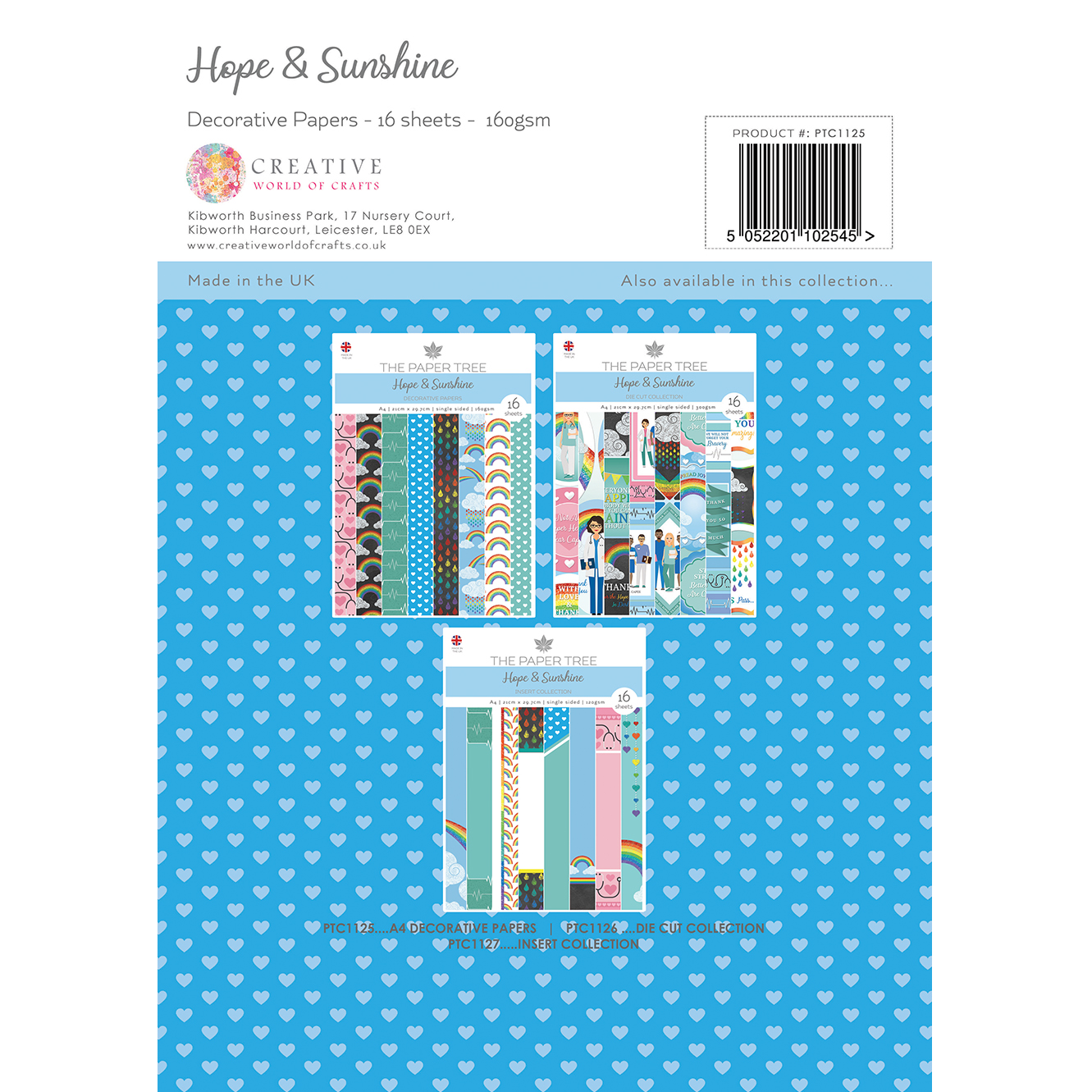 The Paper Tree Hope & Sunshine Decorative Paper Pack 16 x A4 sheets